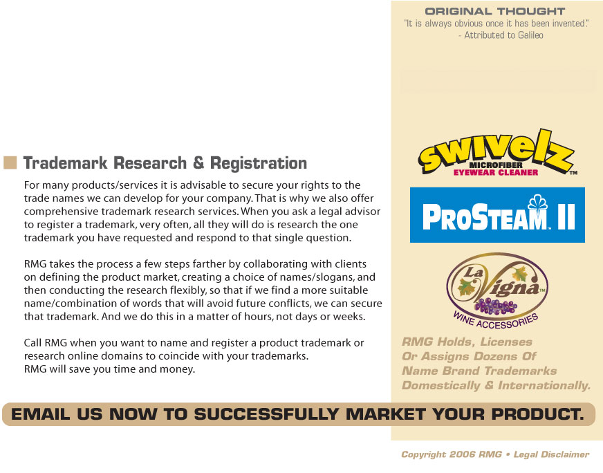 Rivette Marketing Group - Trademark Search & Support